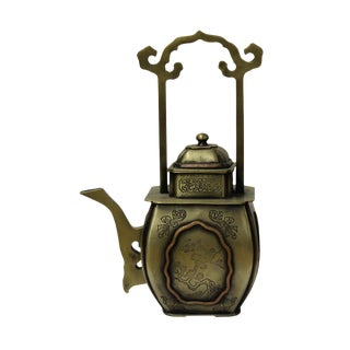 Chinese Handmade Bronze Teapot For Sale