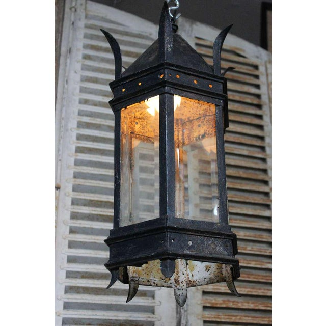 French Iron and Glass Lantern For Sale In New York - Image 6 of 7