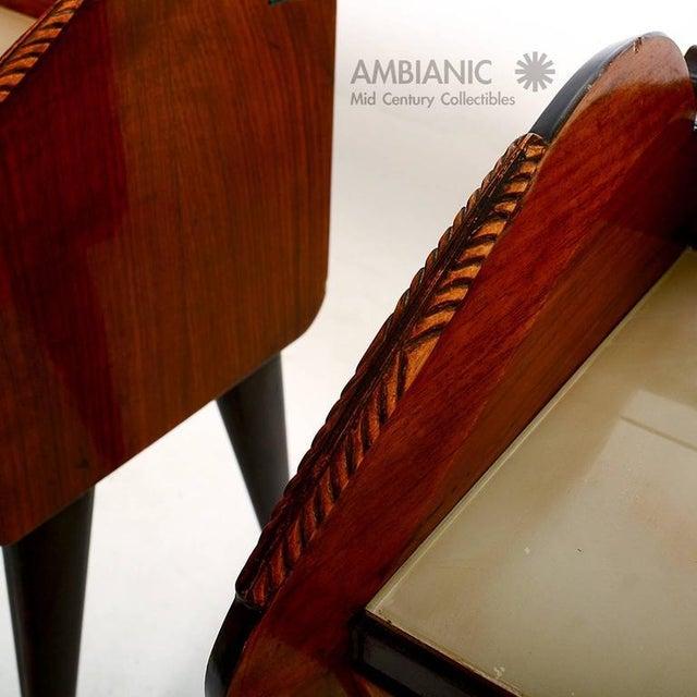Brown Pair of Italian Nightstands For Sale - Image 8 of 10