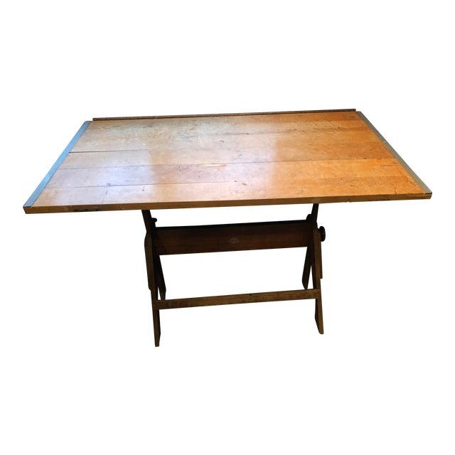 Vintage Anco Bilt Adjustable Drafting Table For Sale