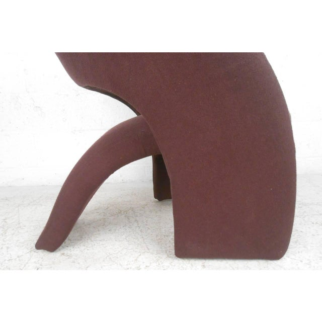 Contemporary Modern Sculptural Lounge Chair with Ottoman - Image 5 of 11