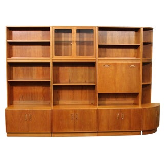 Mid Century Teak Wall Unit by G Plan For Sale