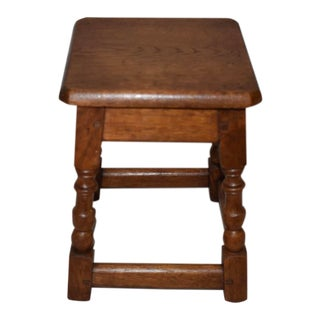 Vintage English Joint Stool For Sale