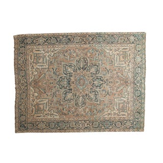 "Vintage Distressed Ahar Rug - 4'8"" X 6'3"""