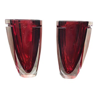Waterford Crystal Metra Vases - a Pair For Sale
