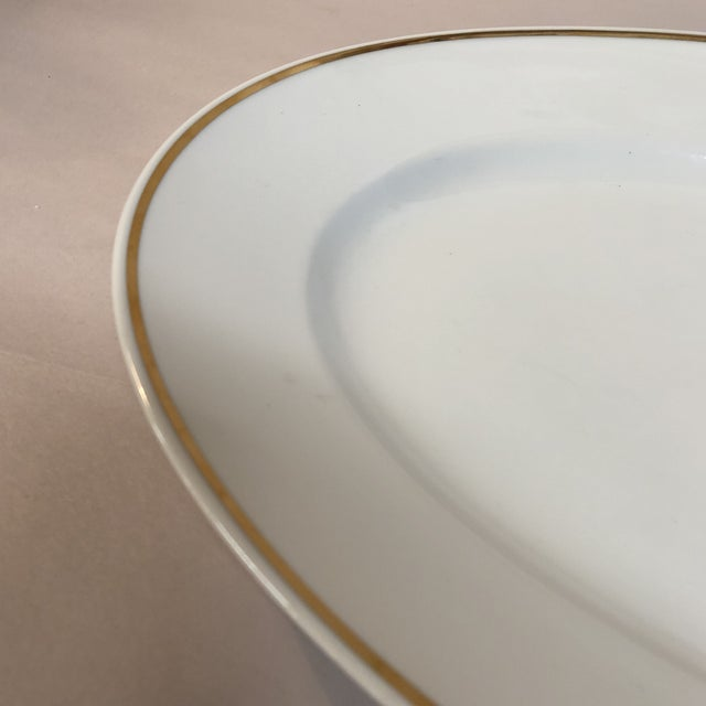 Contemporary Italian Oval Platter Gilt Rim by Ginori For Sale - Image 3 of 6