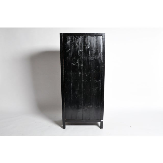 Asian Chinese Cabinet with Display Shelf For Sale - Image 3 of 11