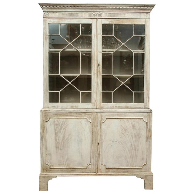 19th Century Painted English Cabinet For Sale - Image 13 of 13