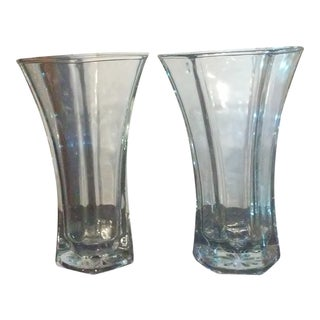 Vintage Hoosier Glass 4041 Vases - a Pair