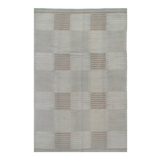 "Pasargad Scandinavian Design Wool Rug - 5′7″ × 8′8"" For Sale"
