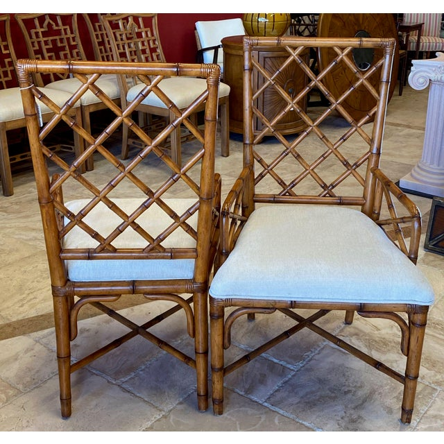 McGuire Style Bamboo Dining Chairs - Set of 8 For Sale In Tampa - Image 6 of 13