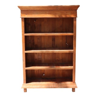 Vintage Rustic Wood Bookcase For Sale