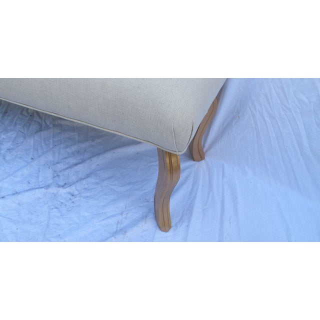 Vintage 1960s Water Fall Legs Gold Leaf Bench - Image 3 of 6