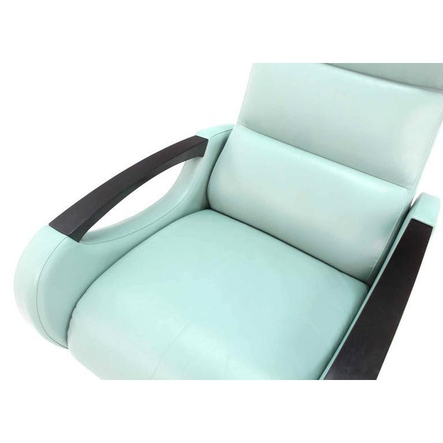 American Leather Pair of Mid-Century Modern Leather Recliner Lounge Chairs For Sale - Image 4 of 11