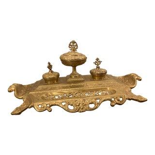 Vintage Brass Desk Accessory For Sale