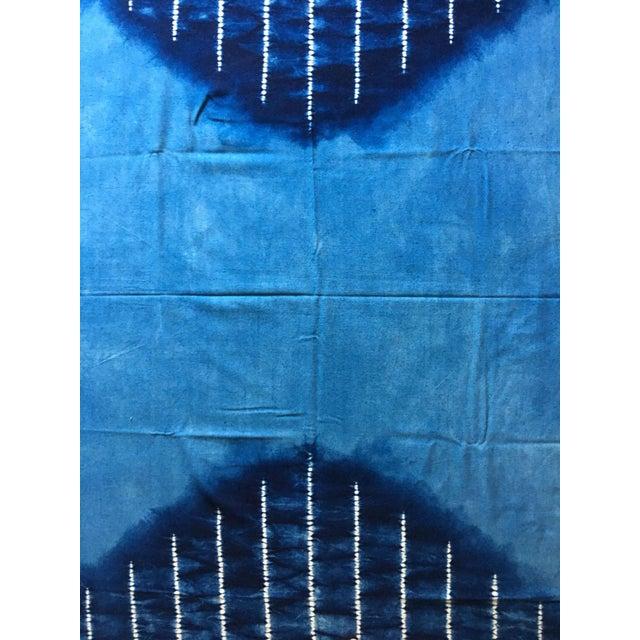 Moving Sale - Large Japanese Indigo Shibori Tablecloth, Throw Blanket or Wall Hanging - Image 4 of 4