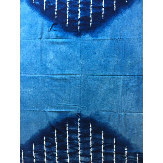Moving Sale - Make an Offer Everything Has Got to Go - Large Japanese Indigo Shibori Tablecloth, Throw Blanket or Wall Hanging For Sale - Image 4 of 4