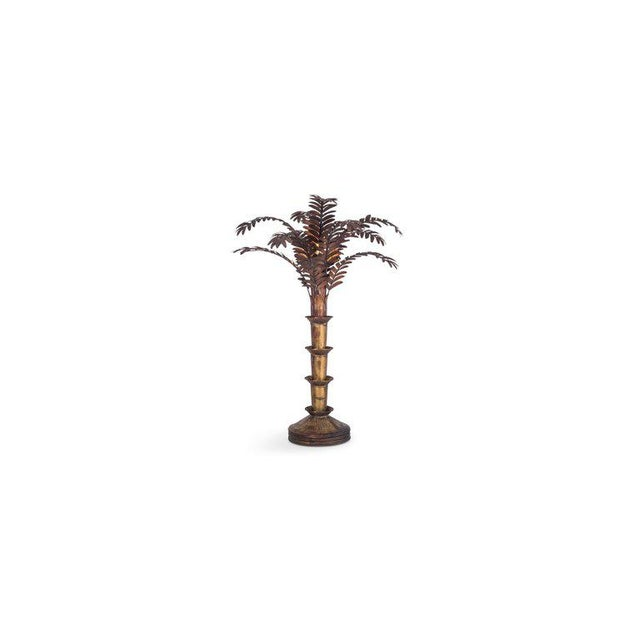Hollywood Regency Maison Jansen Style Palmtree Table Lamp in Copper For Sale - Image 3 of 10