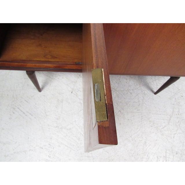 Compact Scandinavian Modern Teak Cabinet For Sale - Image 12 of 13