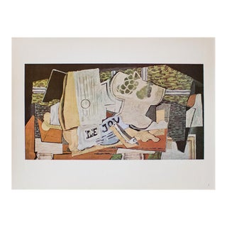 """1940s Georges Braque, """"The Newspaper"""" Original Period Swiss Lithograph For Sale"""