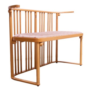 "Josef Hoffmann for Wittmann ""Cabaret Fledermaus"" Bench in Beechwood For Sale"