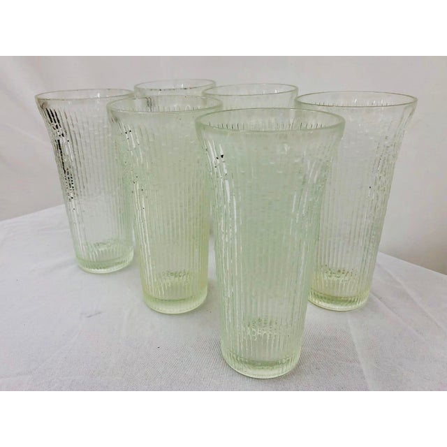 Mid 20th Century Vintage Faux Bamboo Style Cocktail Tumbler Highball Glasses - Set of 7 For Sale - Image 5 of 11
