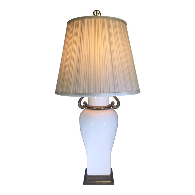 Chapman Table Lamp With Decorative Swan Motif - Image 1 of 5