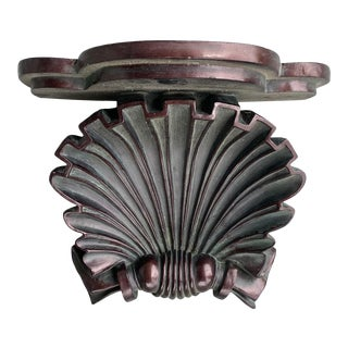 Plaster Shell Decorative Wall Bracket For Sale