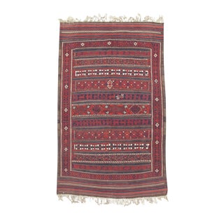 Baluch Flat-Weave Rug - 5′3″ × 8′7″ For Sale