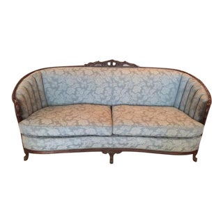 """A Touch of Blue"" Antique Victorian Couch"