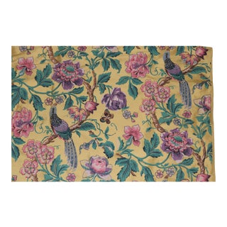 Silk Heavy Weight Floral Fabric - 3 Yards For Sale