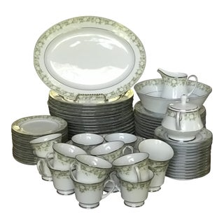Vintage Noritake Princeton Fine China Porcelain Dining Set 5 Piece Place for 14 - Set of 76 For Sale
