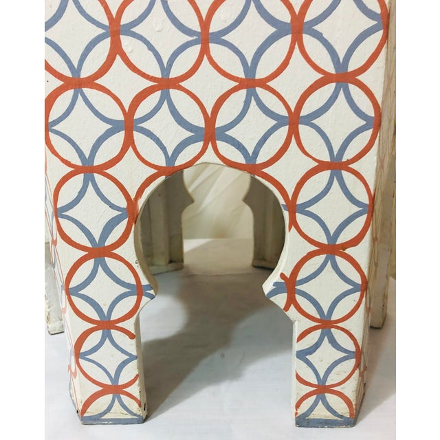 Blue Moroccan Style Lamp Tables - a Pair For Sale - Image 8 of 10