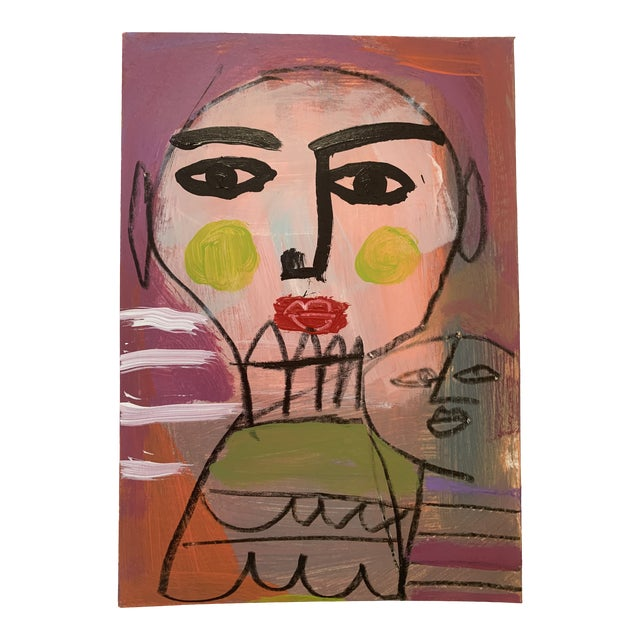 Original Abstract Contemporary Face Painting For Sale