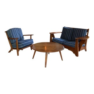 Vintage Mid-Century Herman De Vries for Cushman Sofa Set and Table- 3 Pieces For Sale
