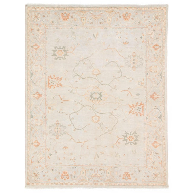 2010s Jaipur Living Phillips Hand-Knotted Floral Light Blue / Cream Area Rug - 9′ × 12′ For Sale - Image 5 of 5