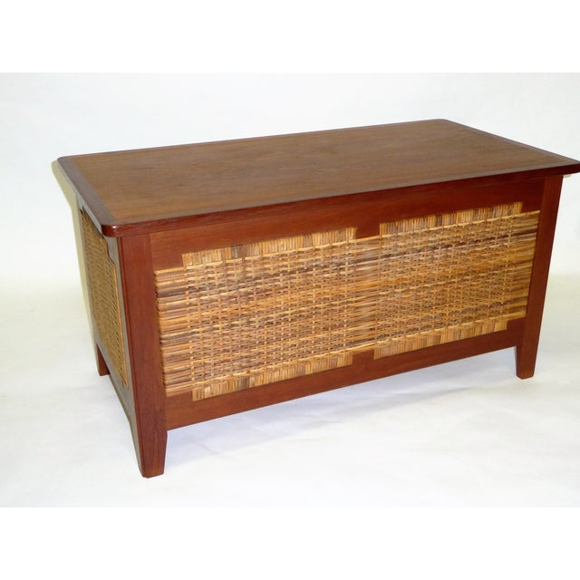 Beautiful 1960s Model PH52 teak chest designed by Kai Winding and produced by Poul Hundevad, Vamdrup, Denmark, featuring a...