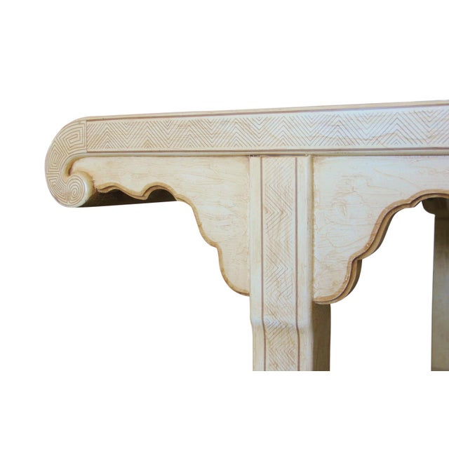 1960s Hollywood Regency Drexel Heritage Carved Wood Dining Table For Sale In Tampa - Image 6 of 7