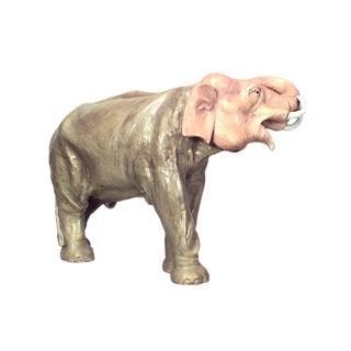 English Victorian Porcelain Elephant For Sale