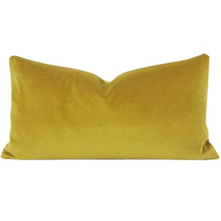 Saffron Yellow Lumbar Pillow Cover - 11x21 Inch For Sale