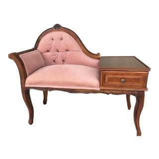 Vintage Gossip /Telephone Chair ,Queen Anne ,Victorian Style