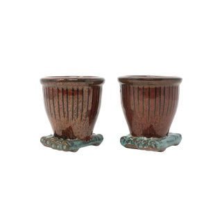 1970s Vintage Ceramic Planters - a Pair For Sale