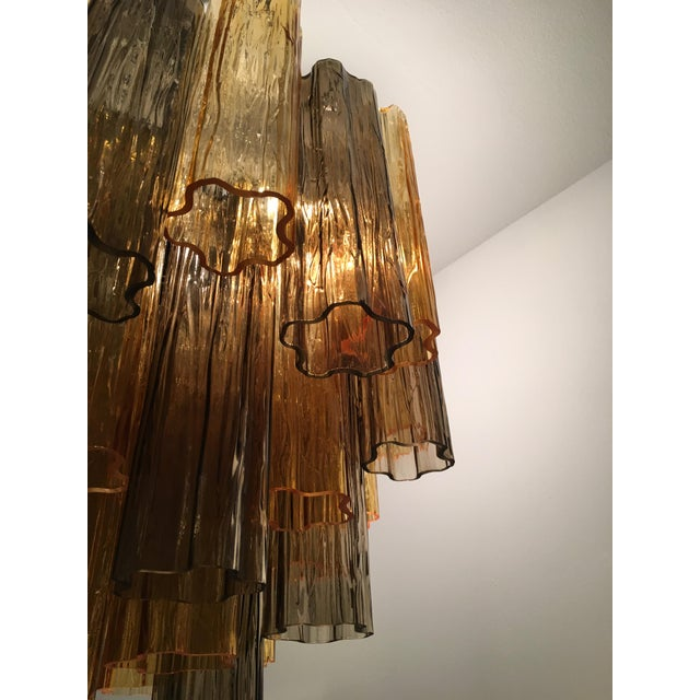 """Contemporary Contemporary Murano Glass """"Tronchi"""" Chandelier For Sale - Image 3 of 12"""