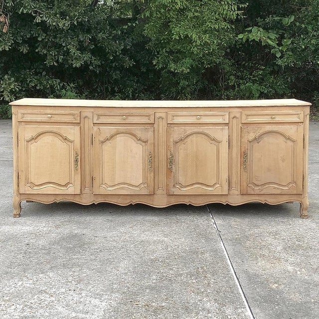 19th Century Grand Country French Stripped Oak Buffet For Sale - Image 13 of 13