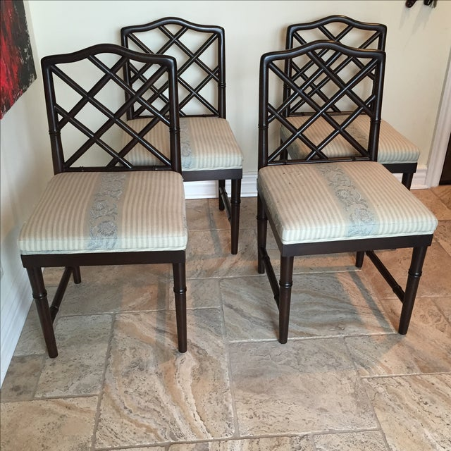 Solid Wood Chippendale Dining Chairs - Set of 4 - Image 2 of 6