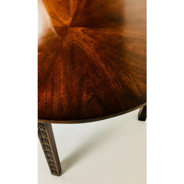 Red 1950s Chippendale Kindel Mahogany Center Table For Sale - Image 8 of 11