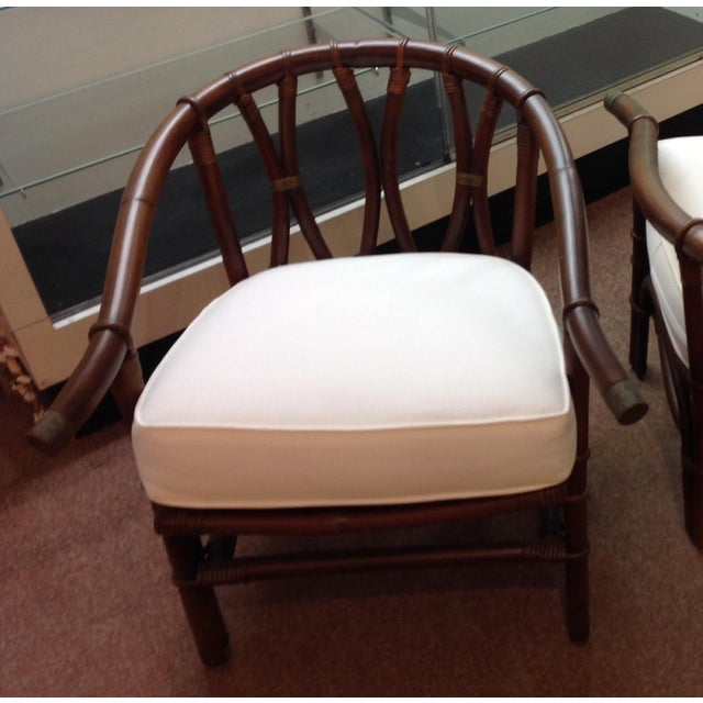 Ficks Reed 1970s Mid-Century Modern Ficks-Reeds Reed Side Chairs Designed by J. Wisner For Sale - Image 4 of 5