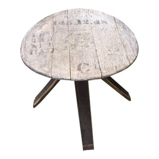 Rustic Whiskey Barrel Table For Sale