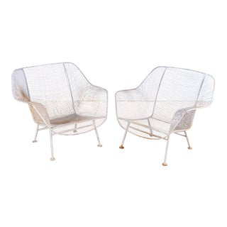 Pair of Woodard Sculptura Garden Lounge Chairs For Sale