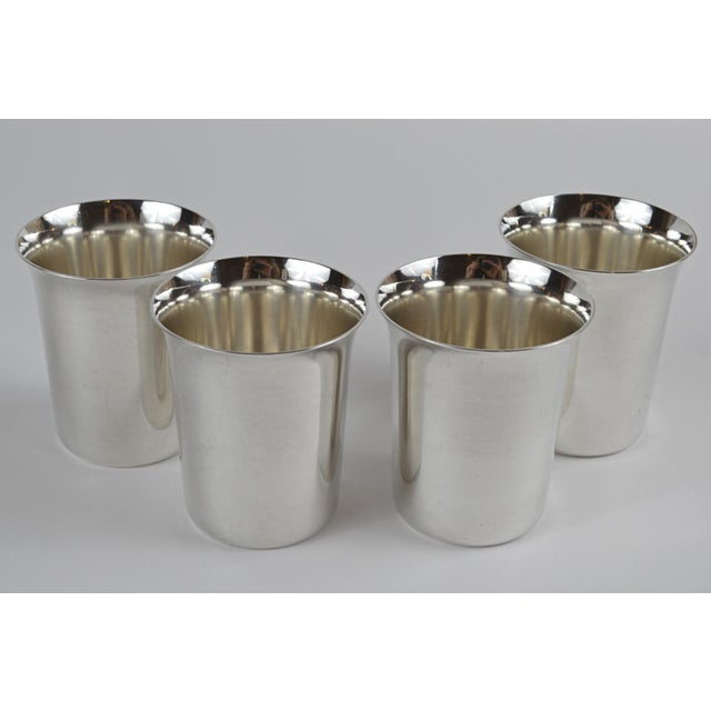 Silver 20th Century Sterling Silver Shot Glasses - Set of 4 For Sale - Image 8 of 8